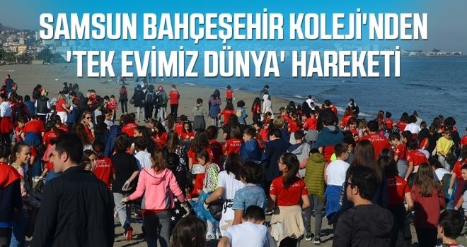 Samsun Bahçeşehir Koleji'nden'Tek evimiz dünya' hareketi