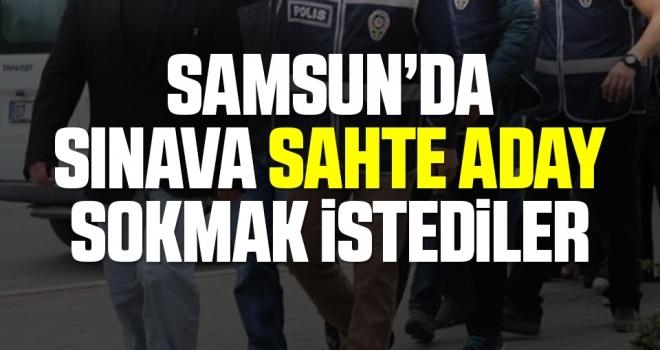Samsun'da başkasının yerine ehliyet sınavına girmeye çalışan 4 kişi yakalandı