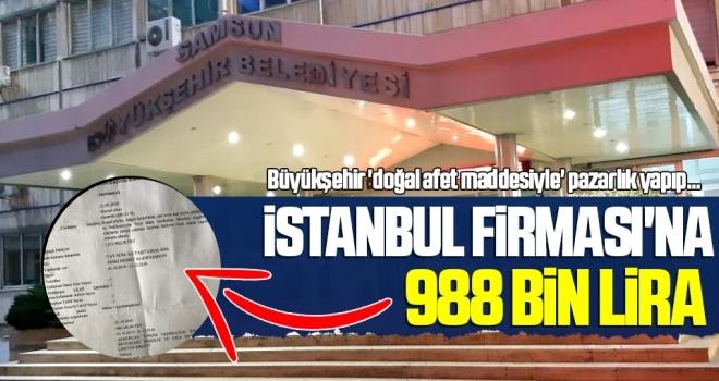 İstanbul Firması'na 988 Bin Lira