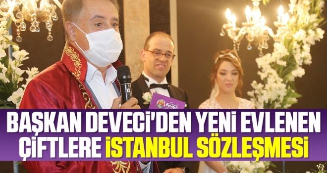 Başkan Deveci'den Yeni Evlenen Çiftlere İstanbul Sözleşmesi