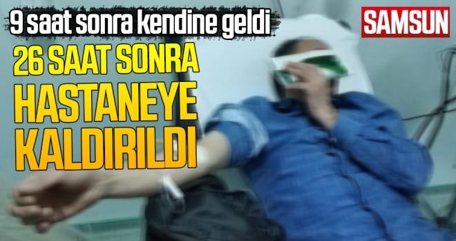 Samsun'da Darp edilip bıçaklandı, 9 saat sonra kendine geldi