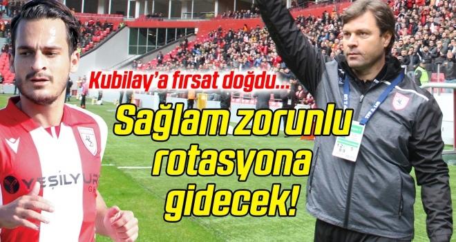 Samsunspor Teknik Direktörü Sağlam zorunlu rotasyona gidecek