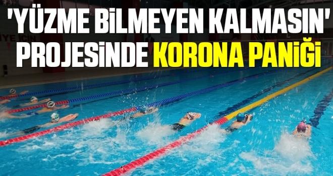 Samsun'da 'Yüzme Bilmeyen Kalmasın'projesinde korona paniği