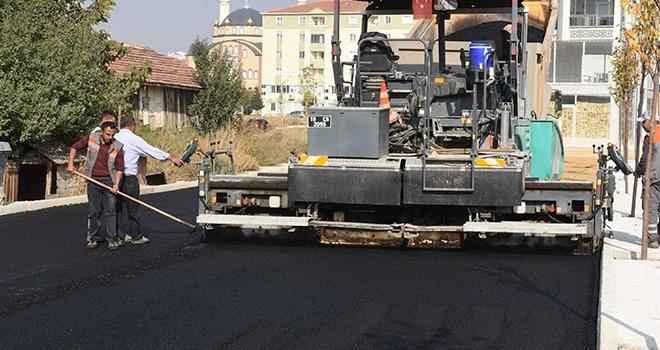 Çorum Belediyesi asfalt'ta 50 bin ton hedefine ulaştı