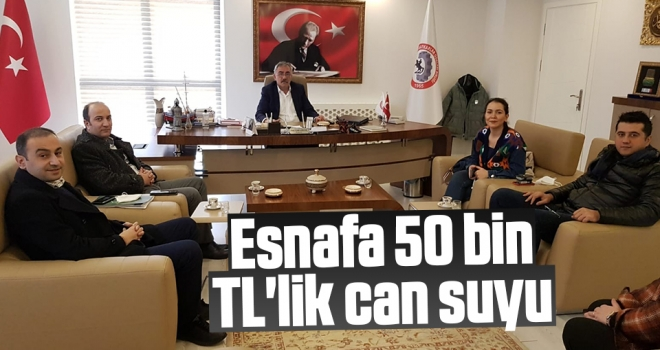Esnafa 50 bin TL'lik can suyu