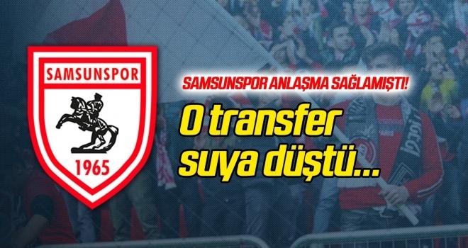 Samsunspor'da o transfer suya düştü!