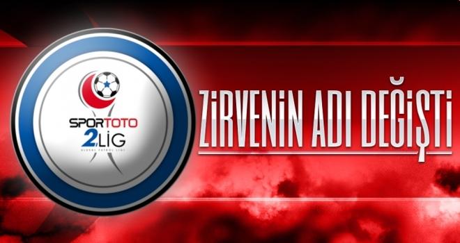 TFF 2. Lig Beyaz Grup'ta Zirvenin Adı Değişti