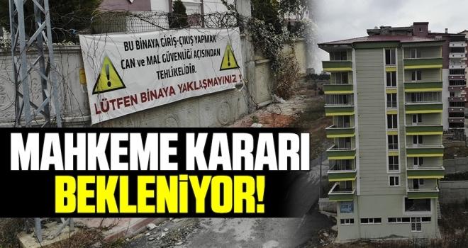 Samsun'da Zemini Kayan Binanın Yıkımı İçin Mahkeme Kararı Bekleniyor
