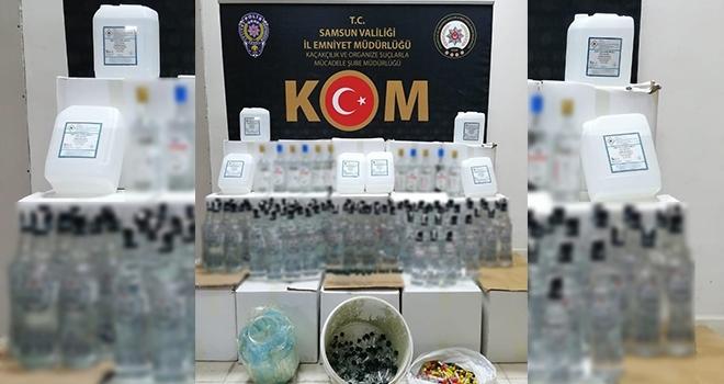 Samsun'da sahte içki operasyonu: 1 gözaltı