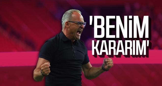 Yılport Samsunspor Teknik Direktörü İrfan Buz: 'Benim kararım'