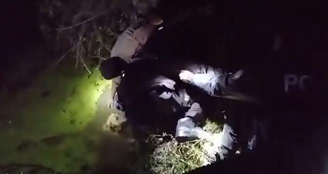 Kanala düşen köpeklerin imdadına polisler yetişti