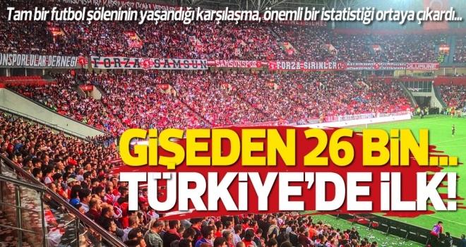 Yılport Samsunspor - Manisa Futbol Kulübü maçında Türkiye'de bir ilk yaşandı