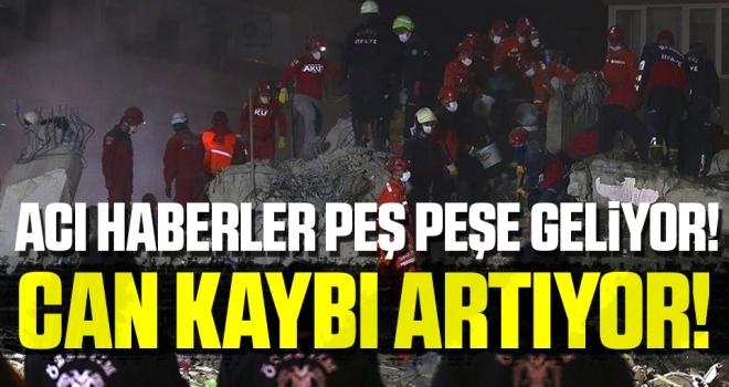 İzmir'deki depremde hayatını kaybedenlerin sayısı artıyor