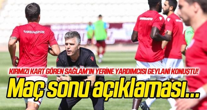 Gökhan Geylani'den maç sonu açıklaması