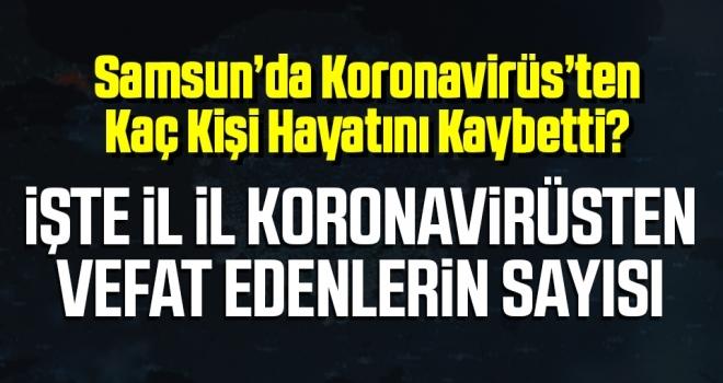 Samsun'da Koronavirüs'ten Kaç Kişi Hayatını Kaybetti? İşte il il koronavirüsten vefat edenlerin sayısı