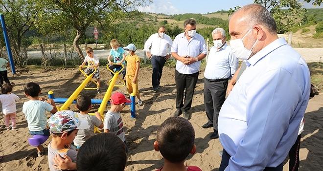 Başkan Sandıkçı çocuklara verdiği sözü tutuyor