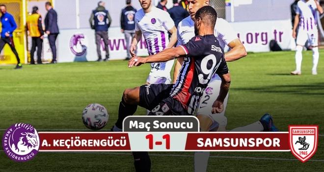 Ankara Keçiörengücü: 1 Samsunspor: 1 (Maç Sonucu)