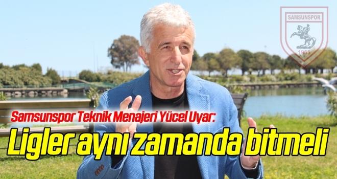 Samsunspor Teknik Menajeri Uyar: Ligler aynı zamanda bitmeli