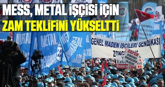 MESS, metal işçisi için zam teklifini yüzde 8'den yüzde 10'a yükseltti
