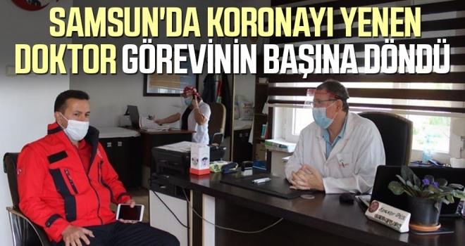 Samsun'da Koronayı Yenen DoktorGörevinin Başına Döndü