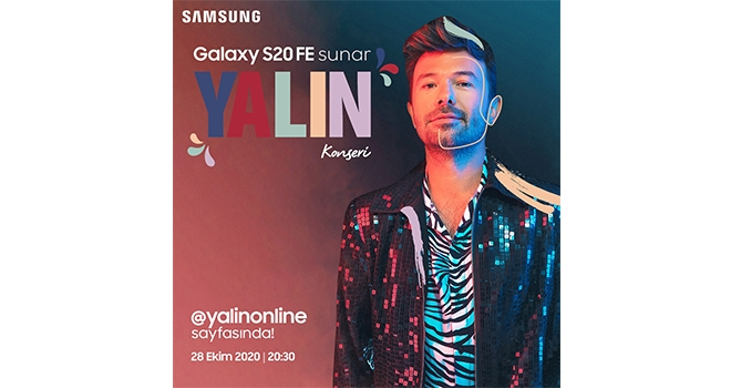 Samsung'dan Galaxy S20 FE hayranları için rengârenk Yalın konseri!