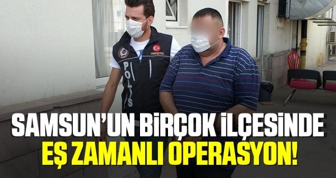 Samsun'un Birçok İlçesinde Eş Zamanlı Uyuşturucu Operasyonu!