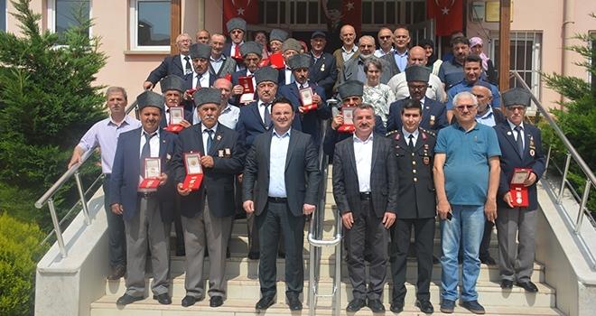 Samsun'da Kıbrıs gazilerine madalya