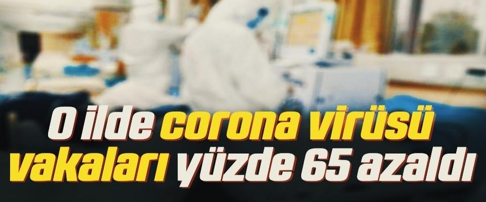 O ilde corona virüsü vakaları yüzde 65 azaldı