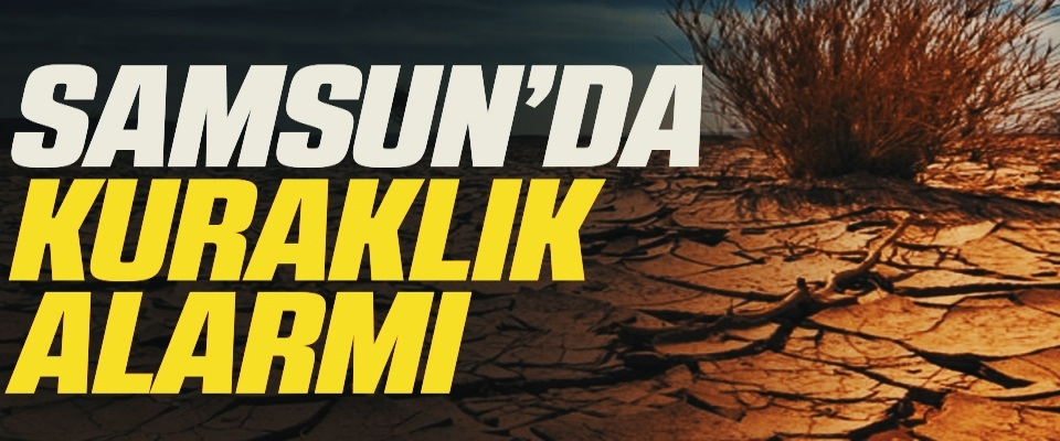Samsun'da Kuraklık Alarmı!