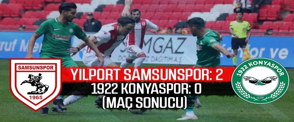 Yılport Samsunspor: 2 1922 Konyaspor: 0 (Maç sonucu)