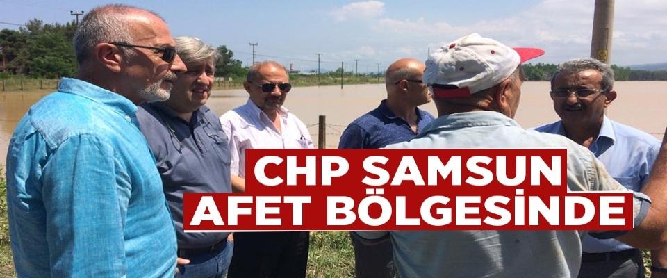 CHP Samsun Afet Bölgesinde