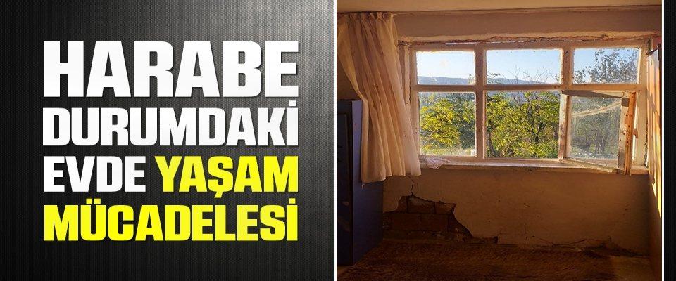 Samsun'da Harabe durumdaki evde yaşam mücadelesi