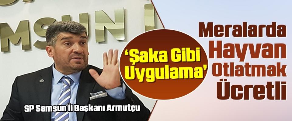 SP Samsun İl Başkanı Armutçu: Meralarda HayvanOtlatmak Ücretli