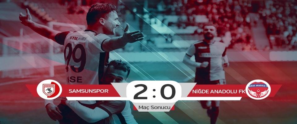 Samsunspor:2  Niğde Anadolu FK: 0  (Maç sonucu)