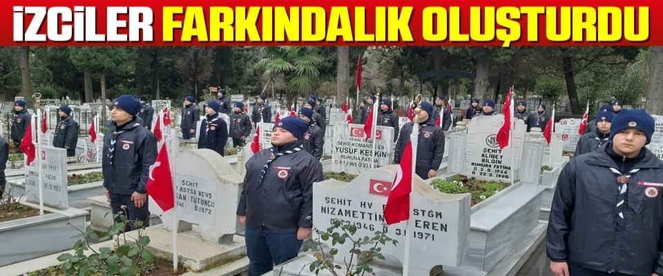 Samsun'da İzciler Farkındalık Oluşturdu