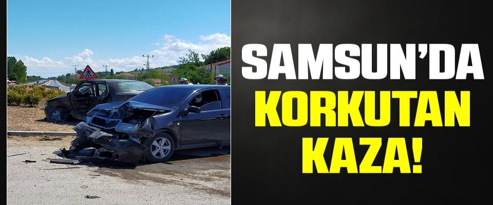 Samsun'da Korkutan Kaza! 3 yaralı