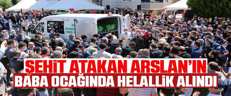 Şehit Atakan Arslan'ın baba ocağında helallik alındı