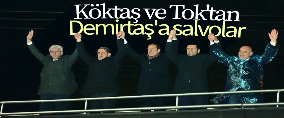 Köktaş ve Tok'tan Demirtaş'a Salvolar