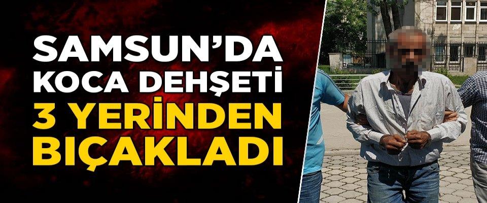 Samsun'da Koca Dehşeti: 3 Yerinden Bıçakladı
