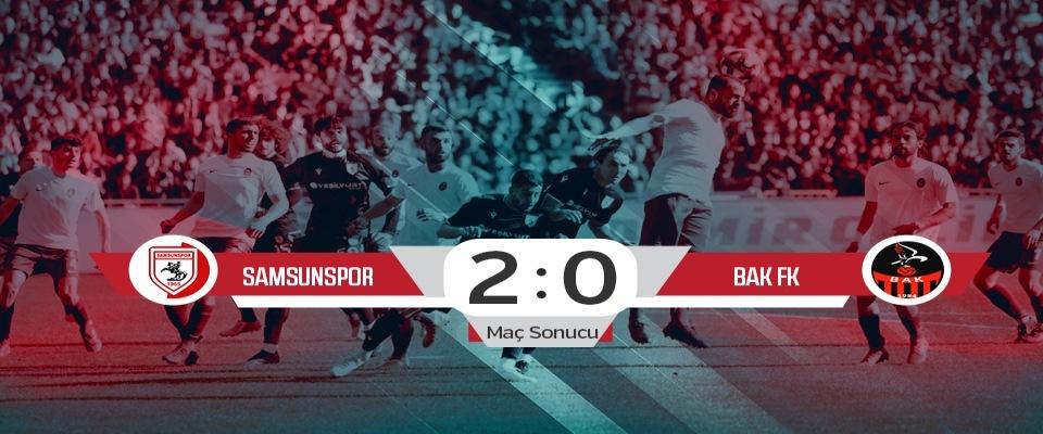 Yılport Samsunspor: 2 BAK FK: 0 (Maç sonucu)