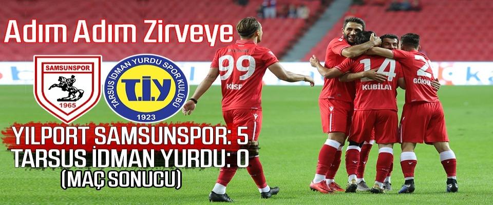 Yılport Samsunspor : 5 Tarsus İdman Yurdu: 0 (Maç Sonucu)