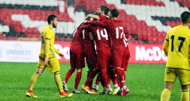 U21 Avrupa Şampiyonası: Türkiye: 3 - Kosova: 0 (Maç sonucu)