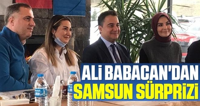 DEVA Partisi Genel Başkanı Ali Babacan'dan Samsun Sürprizi