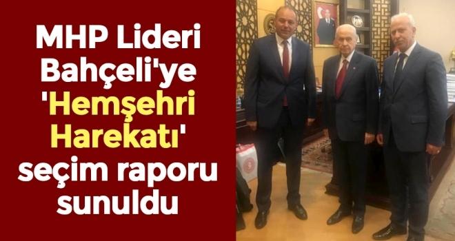 Samsun'dan MHP Lideri Bahçeli'ye Hemşehri Harekatı Seçim Raporu Sunuldu