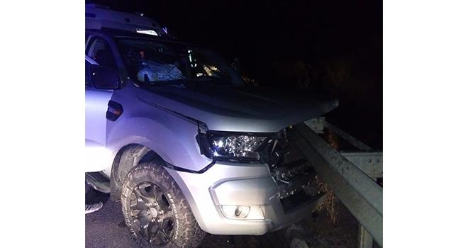 Tünel çıkışında kaza:4 yaralı