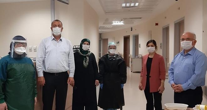 Çarşamba Devlet Hastanesi Başhekimi Bilgin'den korona hastalarına moral