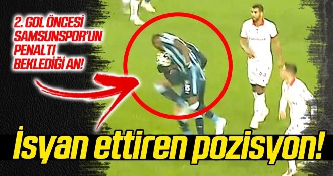 Samsunspor taraftarını isyan ettiren penaltı pozisyon!