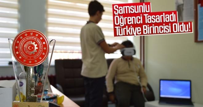 Samsunlu Öğrencinin Tasarladığı 'sanal gerçeklik gözlüğü' Türkiye birincisi oldu
