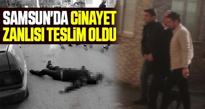 Samsun'da Cinayet Zanlısı Teslim Oldu
