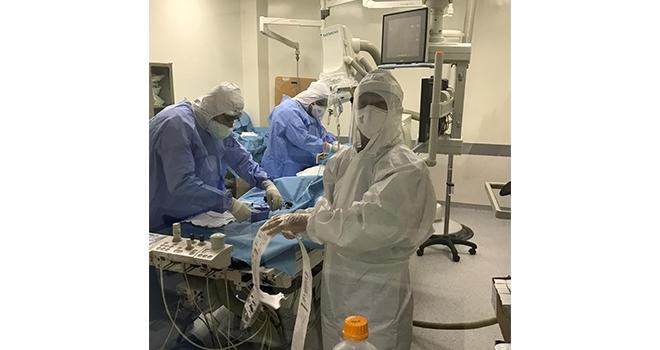 Corona hastasının kalbine stent takıldı